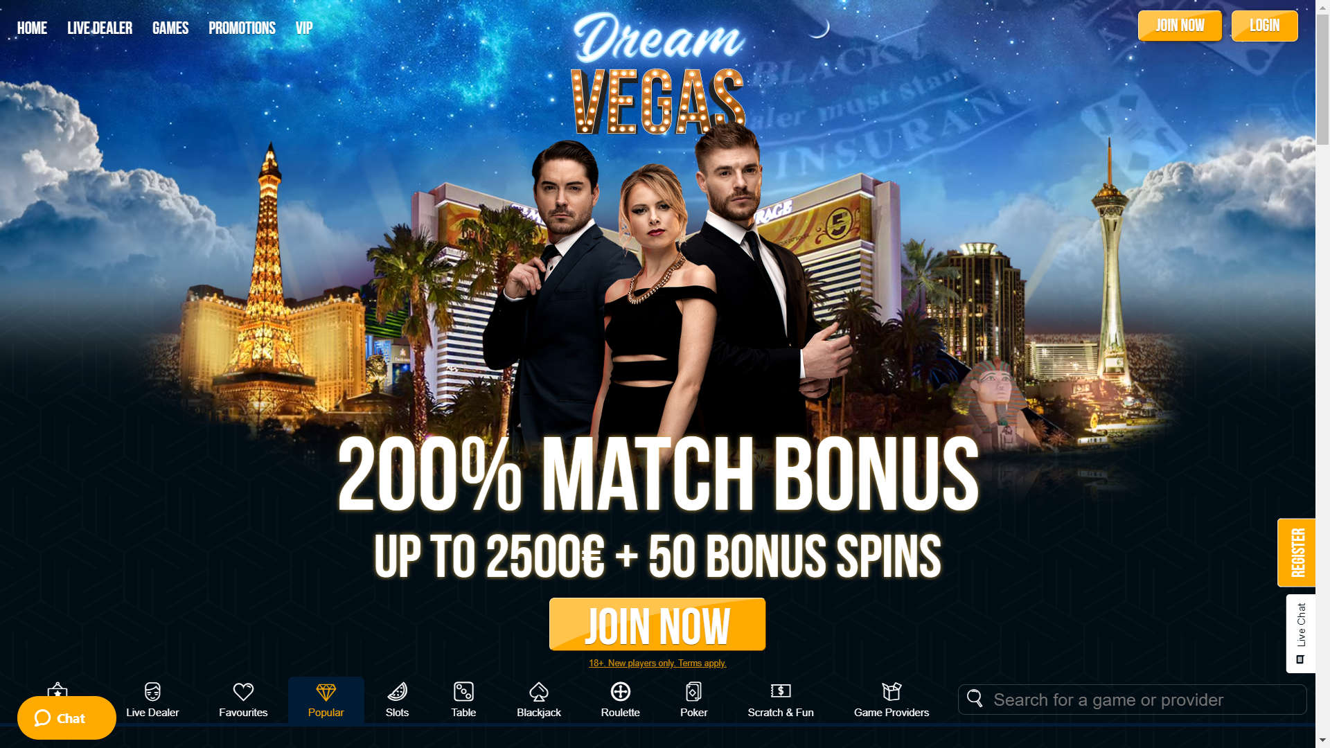Dream Vegas Casino screenshot