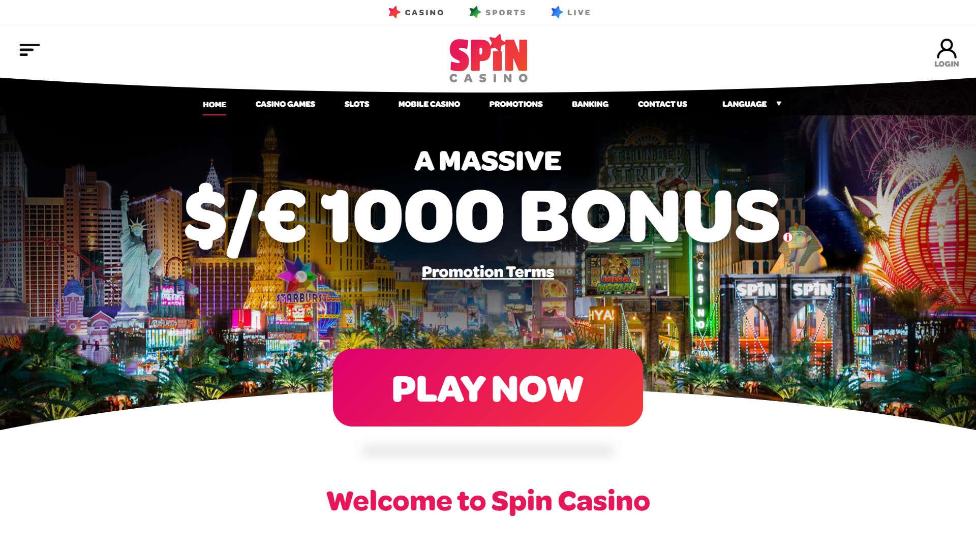 Spin Casino Casino screenshot